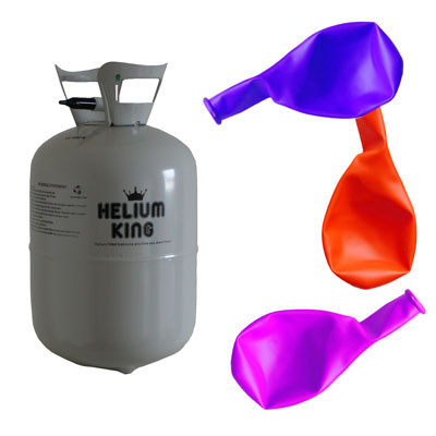 Kleine helium tanks met ballonnen
